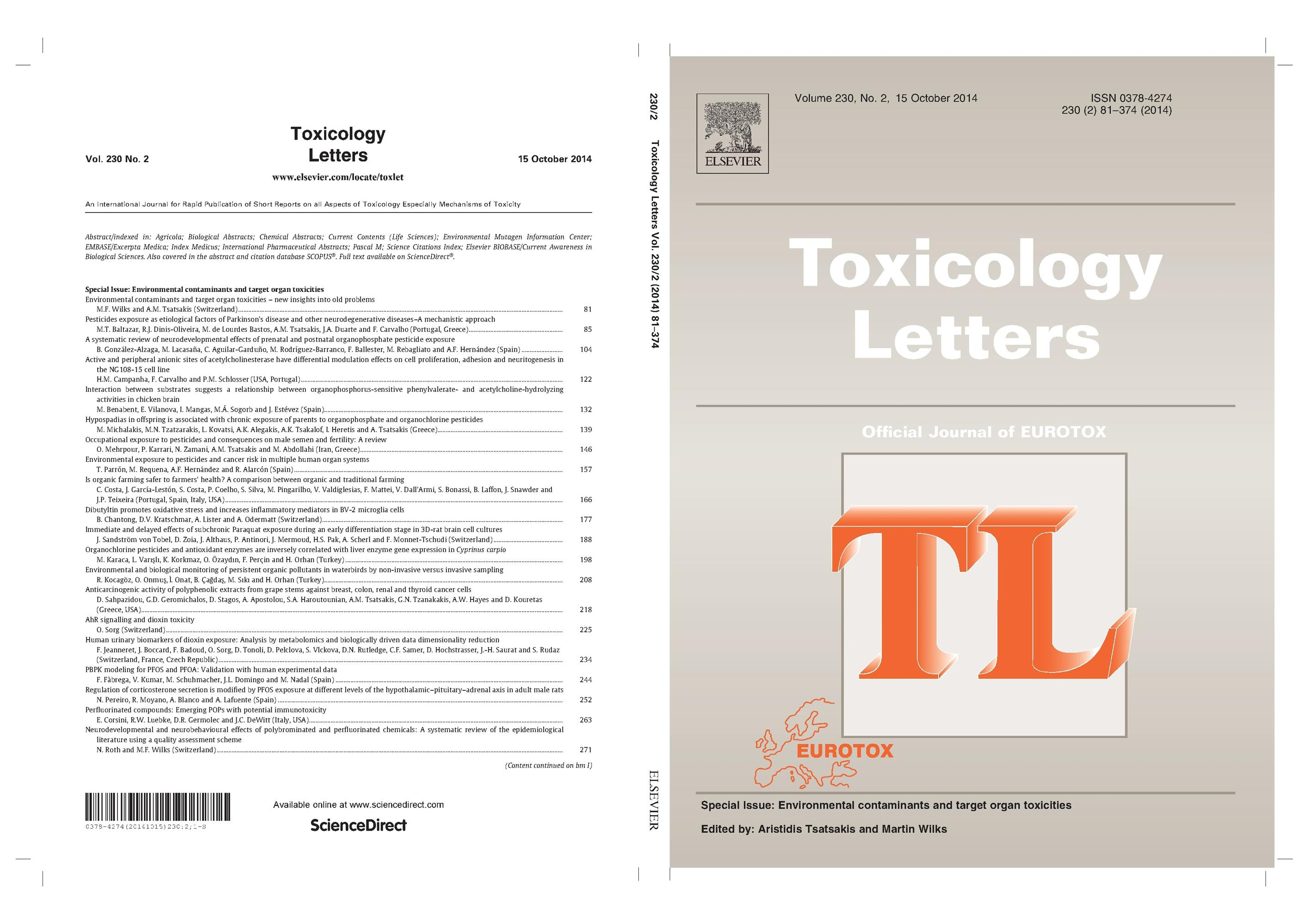 Special Issue Environmental contaminants and target organ toxicities